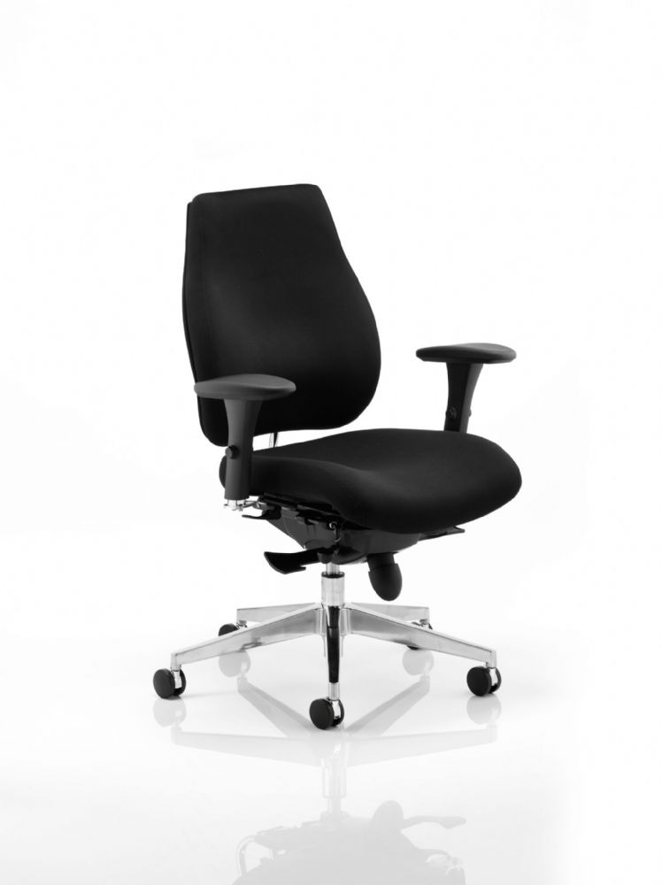 Chiro Plus Posture Ergonomic Chair Arms Fully Upholstered Various Colours Available